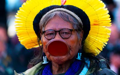 En homenaje a los indígenas muertos por la Covid-19